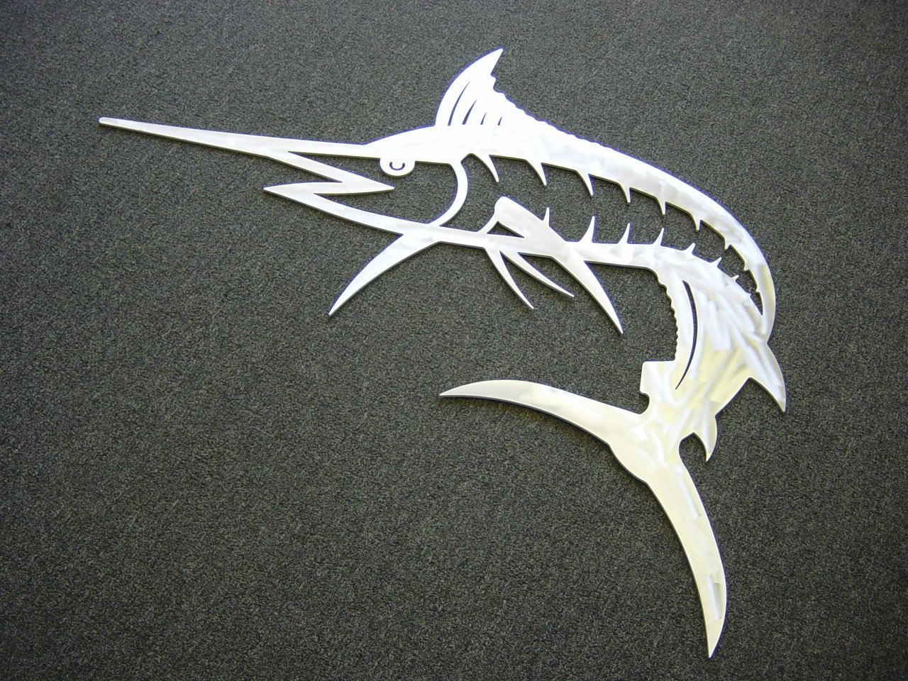 Waterjet Metal Art Ornamental / Aluminum Marlin JPG