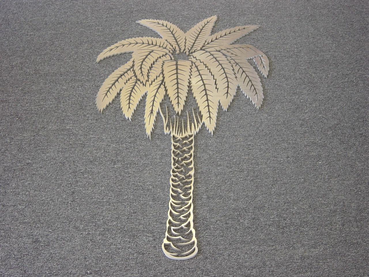 Waterjet Metal Art Ornamental Aluminum Palm Tree Jpg