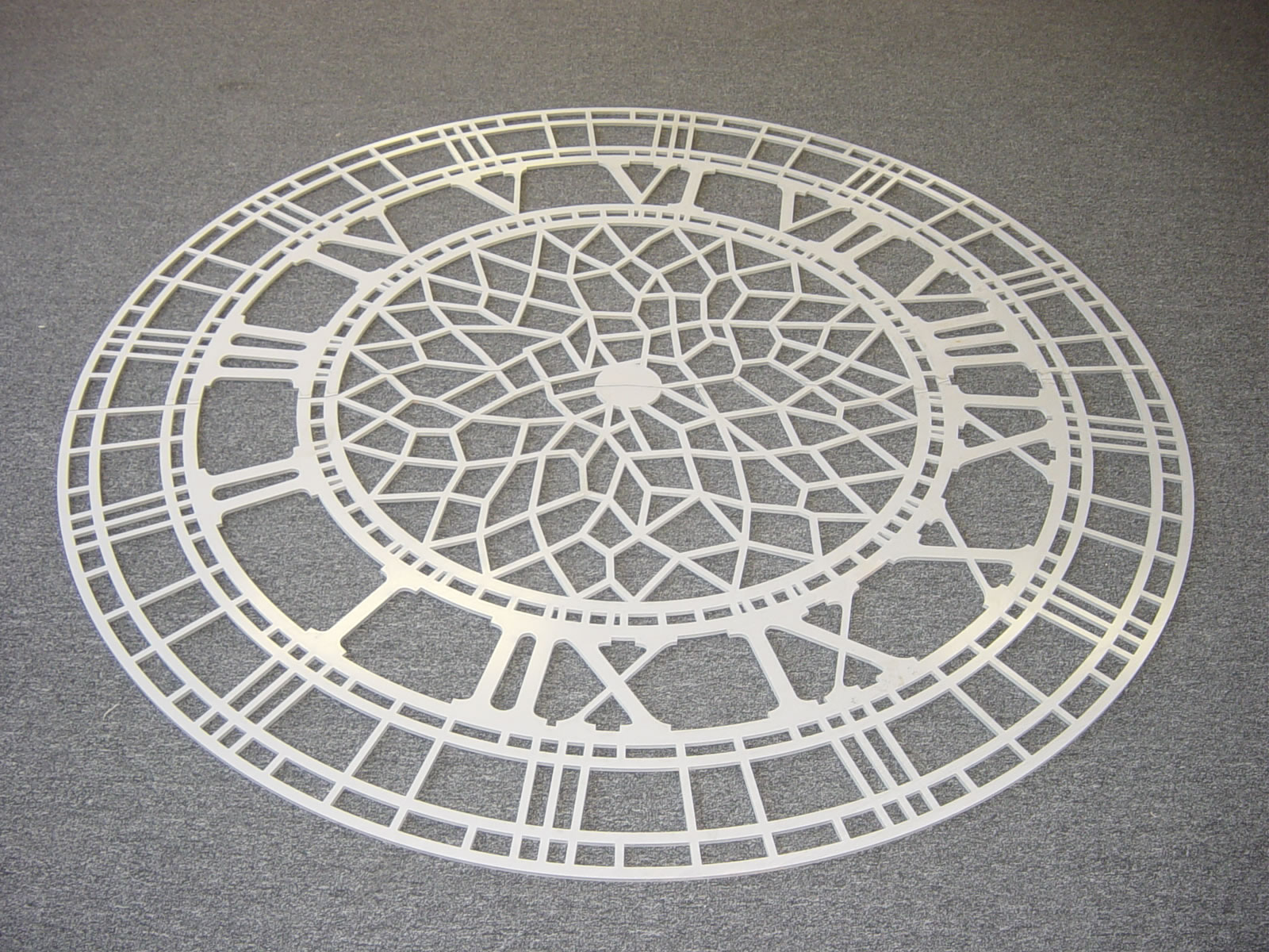 Waterjet Metal Art Ornamental / Stainless Clock Face JPG